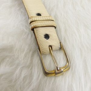 James Culver Brown, Off White Cowhide Leather Belt